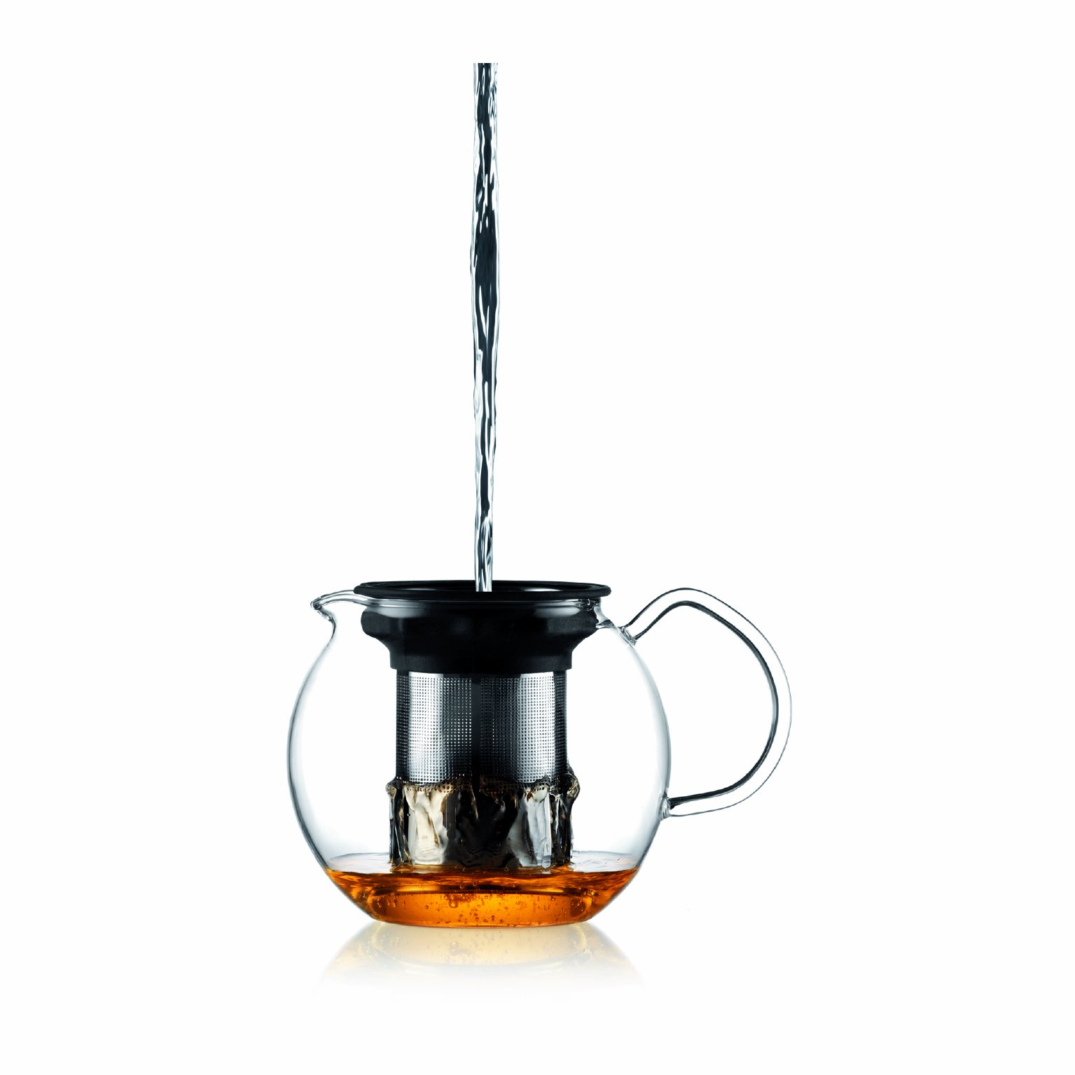 Bodum 1801-16US4 ASSAM Teapot, Glass Teapot with Stainless Steel Filter, 34 Ounce by Bodum (Image #3)
