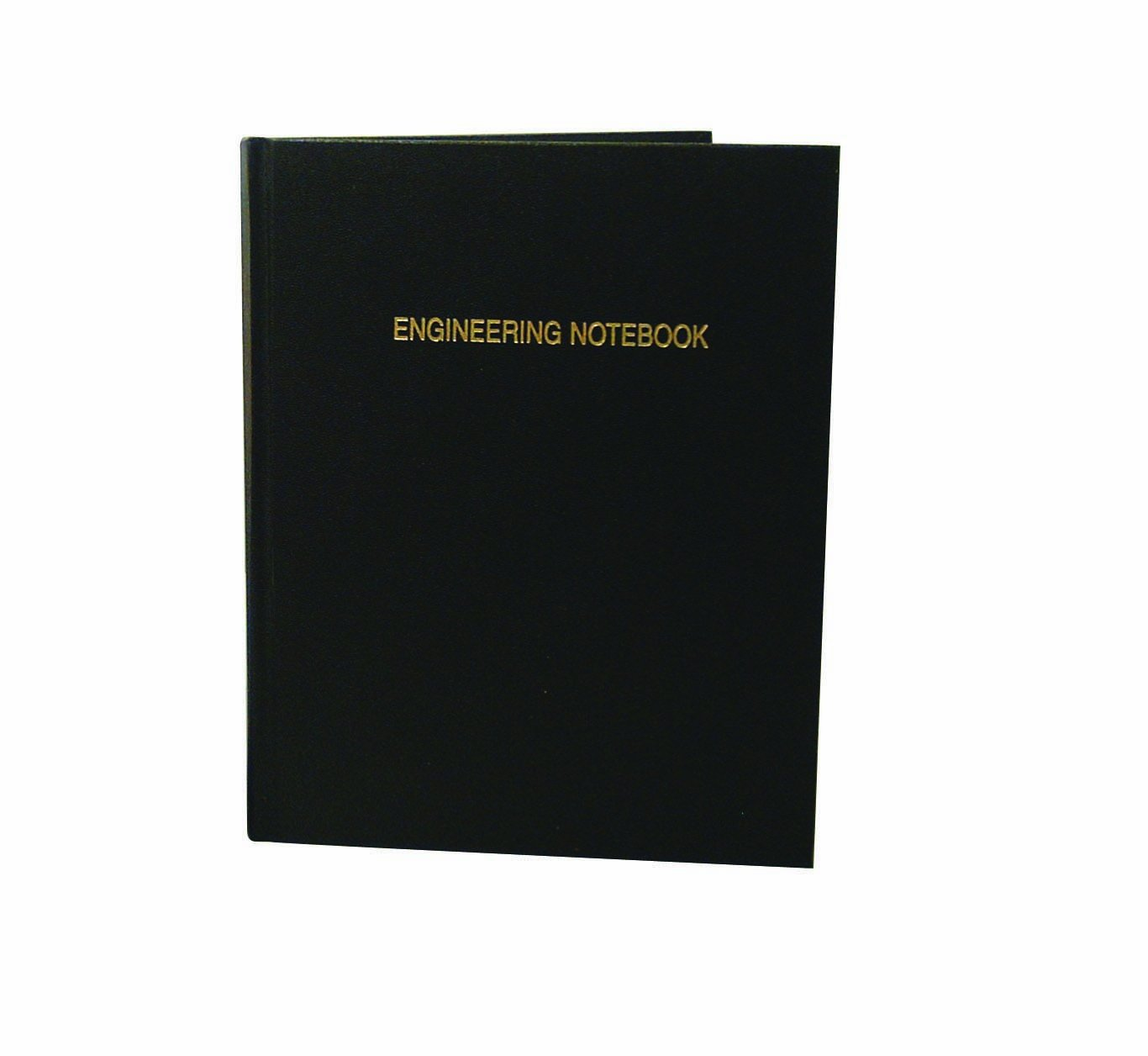 Thomas TSCIEPRIL216SKG Grid Engineering Notebook, Black Imitation Leather Cover, 216 Pages, 10'' Length x 8'' Width