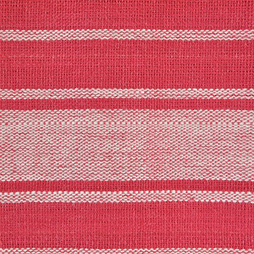 DII 100% Cotton, Ultra Absorbent, Drying & Cleaning, Everyday Kitchen Basic, Classic Stripe Dishtowel, 20 x 28, Set of 8- Red by DII (Image #2)