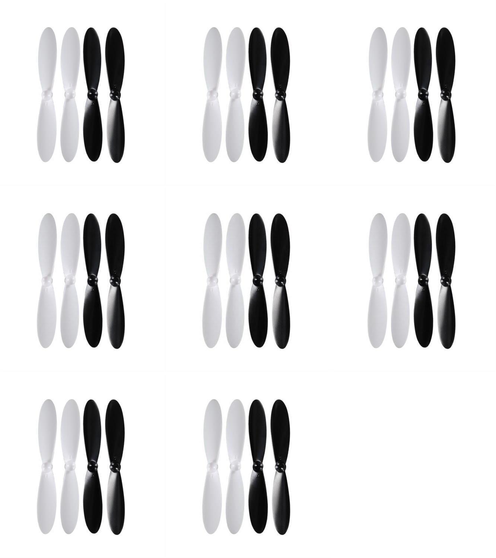 8 xの数量DBPOWER RCクアッドコプタードローン55 mmプロペラプロップブレードローターセットメインブレードブラックandホワイト   B01DW1MI2G