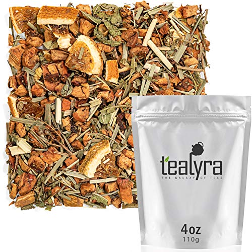 Tealyra - White Citrus Vanilla - Green Rooibos - Lemongrass - Lemon Verbena - Herbal Loose Leaf Tea - Calming and Relaxing - Caffeine-Free - 112g (4-ounce)
