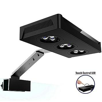Iluminacion Acuario - Lampara Acuario LED Luz 30W con 2 Canales LED Regulables Control Táctil Cambio