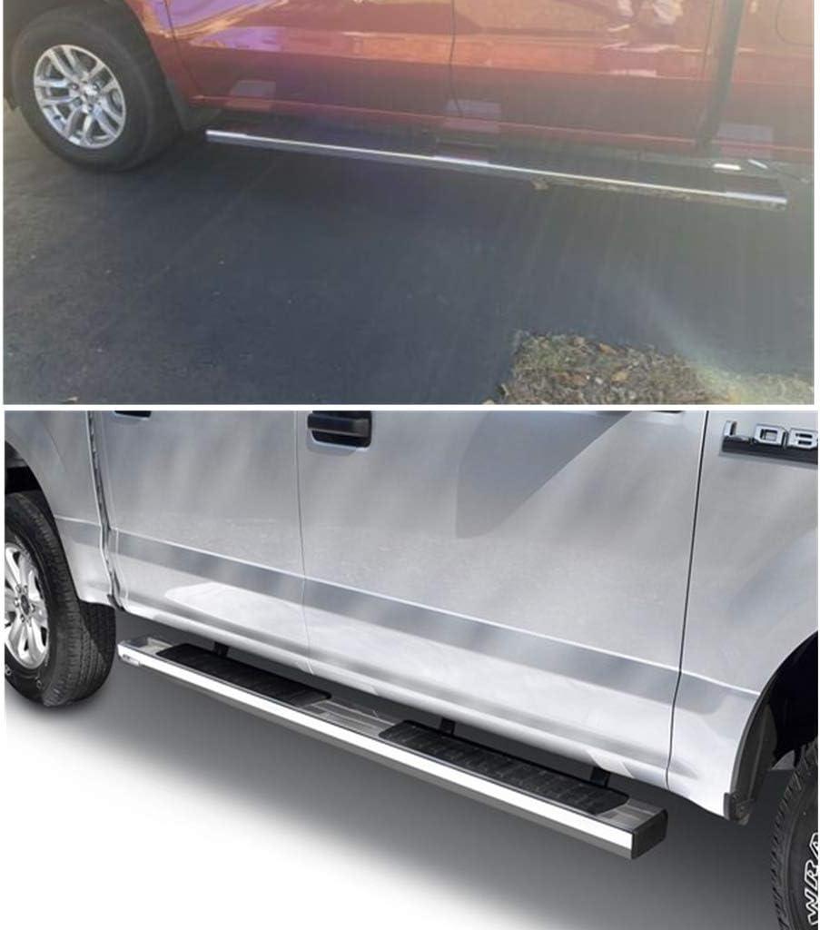 2020 Silverado 2500//3500HD Double cab(Excel 2019 Silverado LD BRONSTARZ 6 Inch Oval Running Boards Side Steps Compatible for 2019-2020 Chevy Silverado 1500 Double Cab