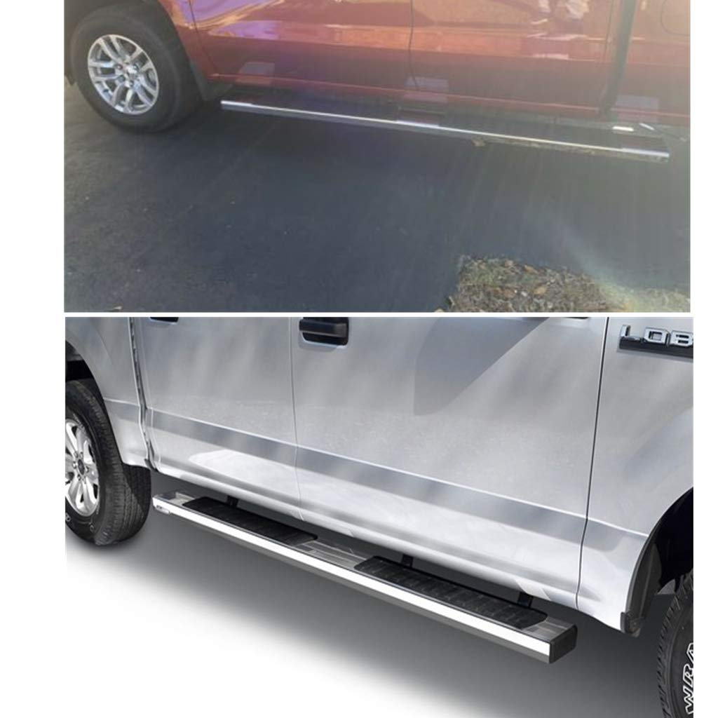 3500 HD Double Cab BRONSTARZ 6 Inch Oval Running Boards Side Steps Side Bars Compatible for 2020 Chevy Sivlerado 2500 HD