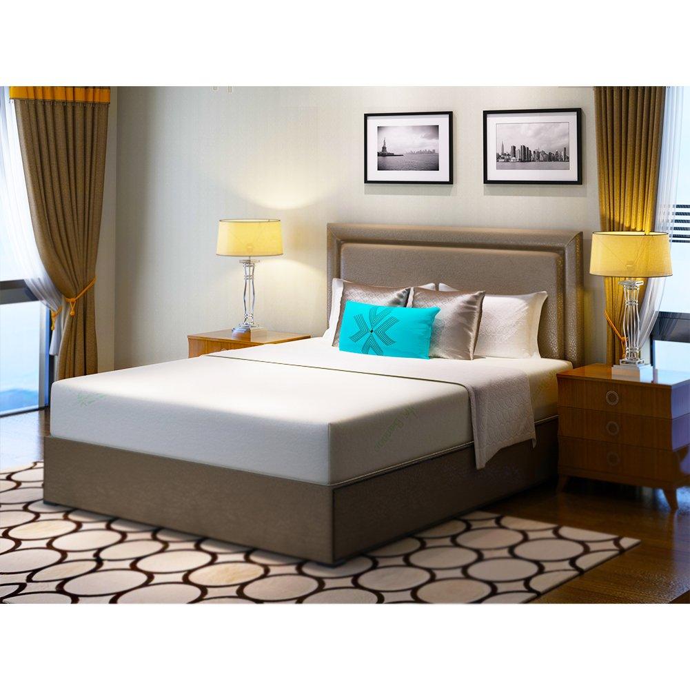 ZESENS Mattress,10 Inch Gel Infused Memory Foam Mattress Made of Bamboo Fiber Fabric,CertiPUR-US Certified (Queen)