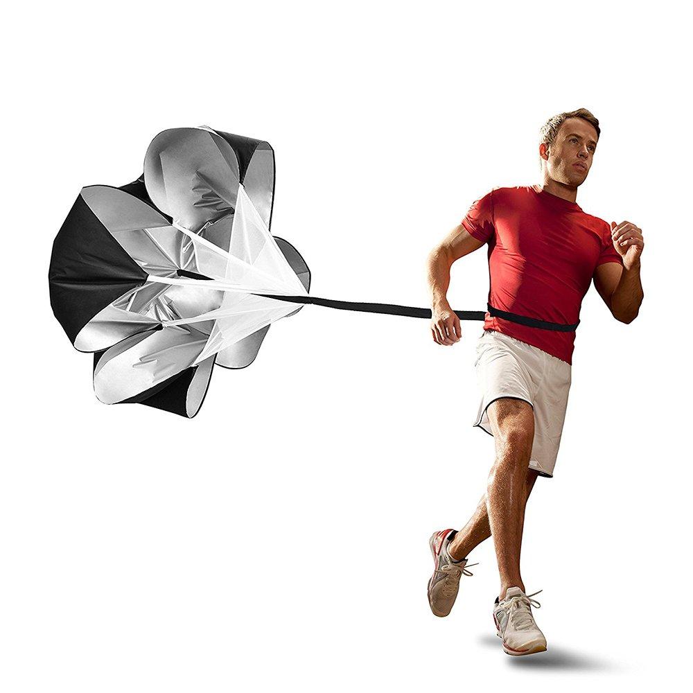Ndier Paracadute di Resistenza per Corsa, Paracadute Regolabile per Allenamento Resistenza di Calcio e Fitness Strength training, Nero