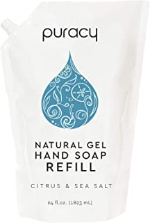 product image for Puracy Natural Gel Hand Soap Refill, Citrus & Sea Salt, Sulfate-Free Liquid Hand Wash, 64 Ounce