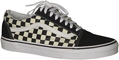 vans old skool checkerboard schwarz