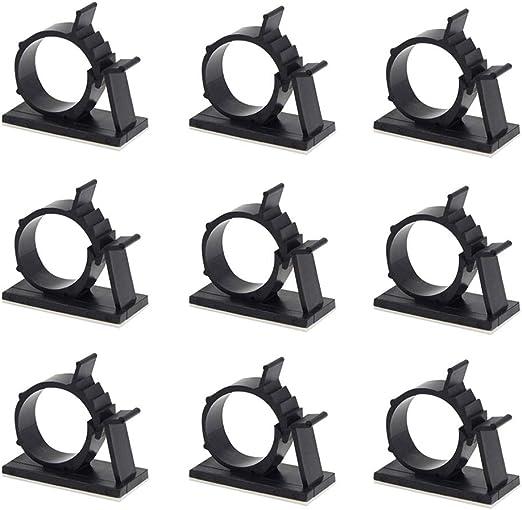 C/âbles Adh/ésifs R/églable Clips de C/âble Nylon Porte Fil de Serrage 50 Pack Noir