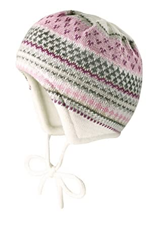 maximo Baby Mädchen Strickmütze zum Binden mit Muster in creme, Hüte ...