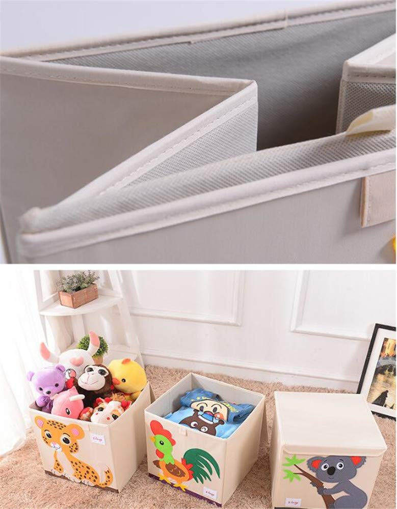 Aufbewahrungsbox Leinwand Faltbare Cartoon Aufbewahrungsw/ürfel Spielzeugkiste Organisator f/ür Kinderspielzeug Pinguin