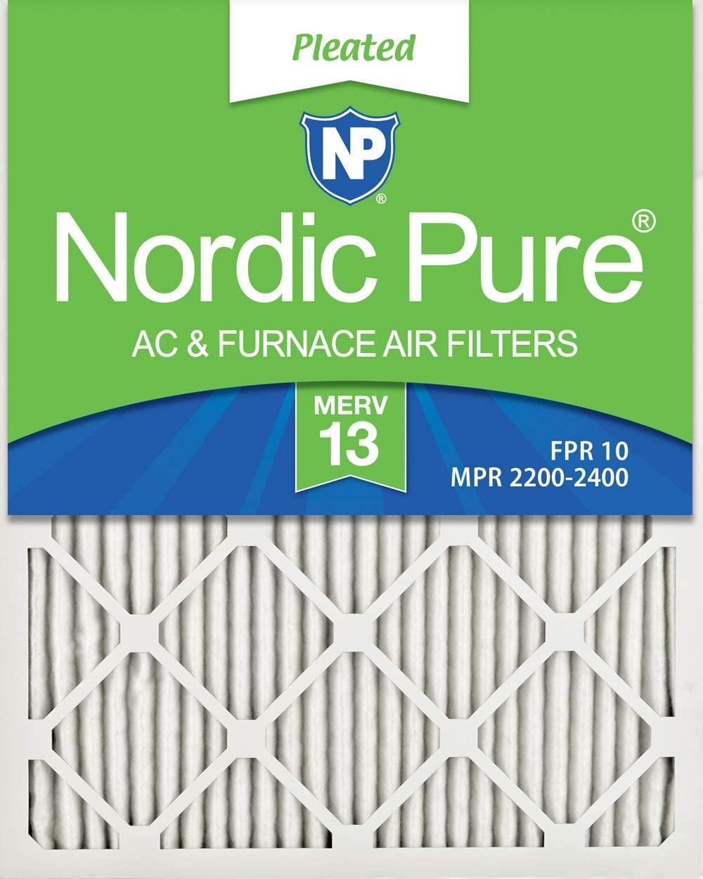 Nordic Pure 8x20x1 Exact MERV 13 Tru Mini Pleat AC Furnace Air Filters 1 Pack
