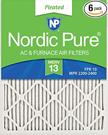 12 Pack High Quality Genuine MERV 13 Pleated Furnace Filters 16x25x1