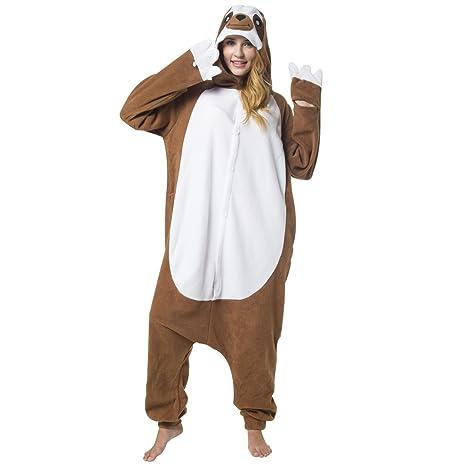 nuovi stili 481e2 e1182 Katara 1744 - Costume Animale Pigiama intero Kigurumi Carnevale, Bradipo -  Taglia L
