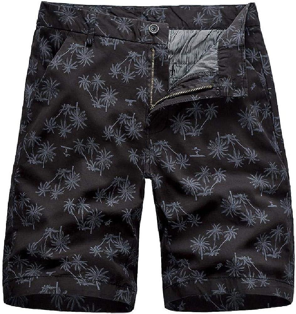 Pantalones Cortos de Verano 2020 para Hombres Pantalones de Cinco Puntos Pantalones de Playa con Estampado de algodón Pantalones Casuales para Hombres Monos