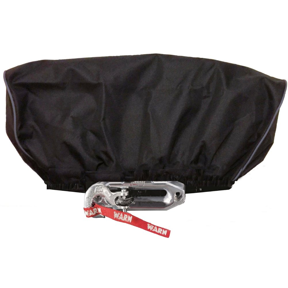 Utility Winch Covers, 600 D Heavy Duty PVC Winch Cover and Waterproof Soft Winch Dust Cover Recovery 8000-17500 lbs HZC134 HANSHI