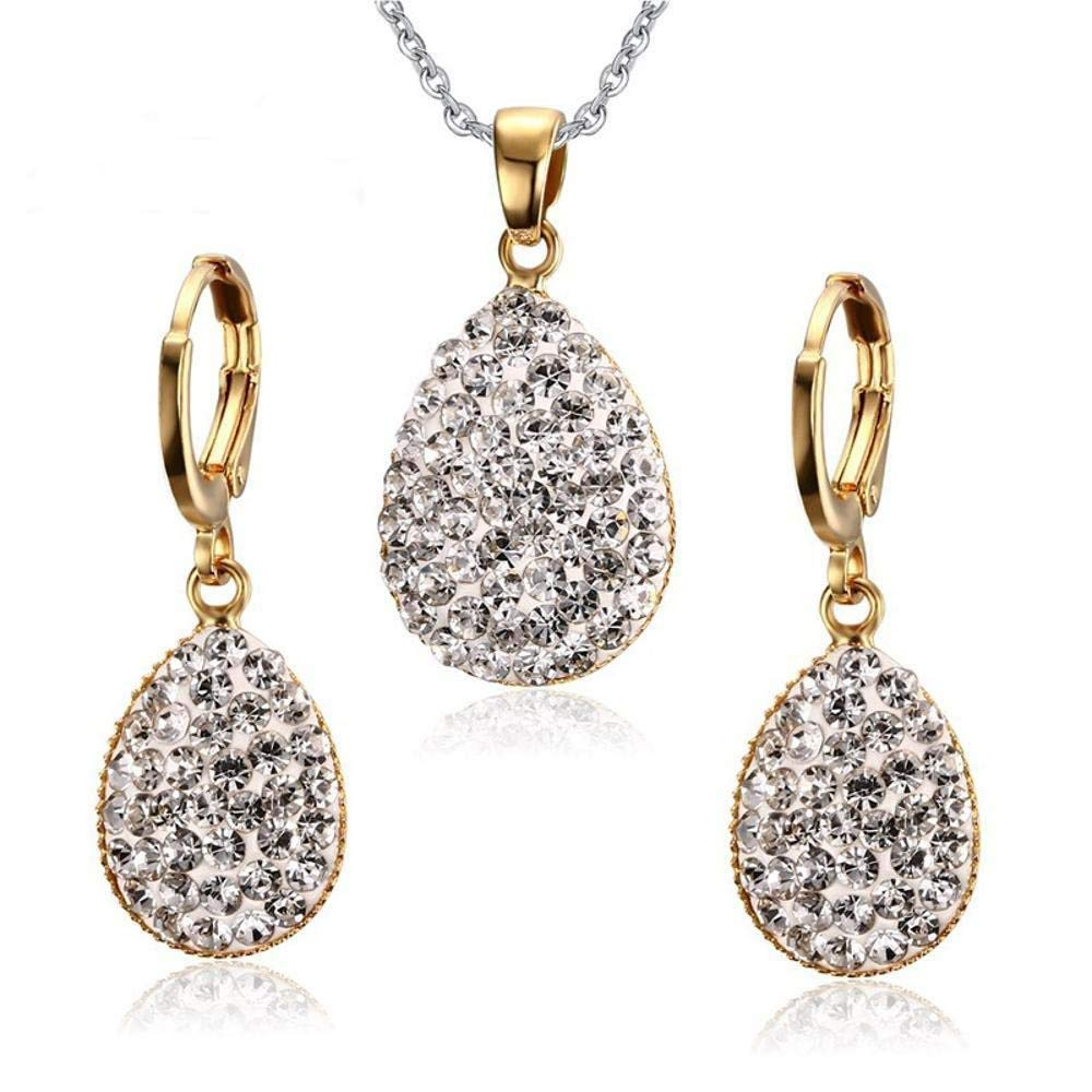 Ludage Earrings, Stainless Steel Necklace Earrings Stick Diamond Necklace Earring Set Allergy Graduation Gift Send Friend 22mm14mm