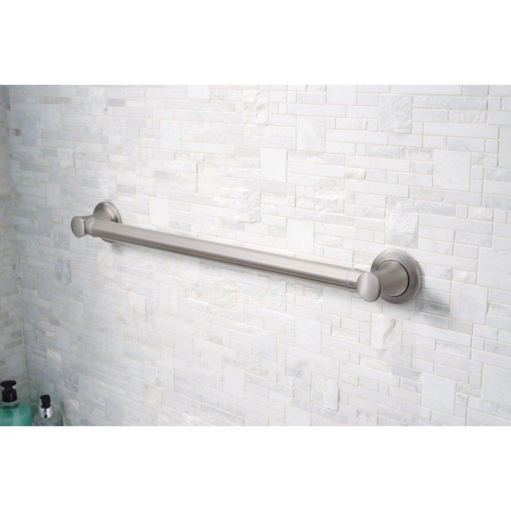 DELTA DCL5924-BN Carlisle 24-inch x 1 1/4-inch Decorative Bathroom Safety Grab Bar, Brushed Nickel