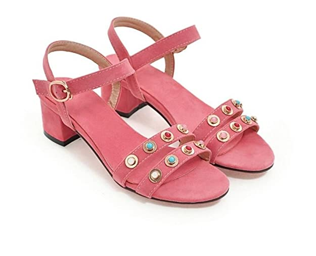 WEIQI shoes WEIQI-Sandales/Rivets/Molleton/Open Toe/Simple/Confortable, Shopping/Scolaire, 4cm, 34-41, Yellow, 41