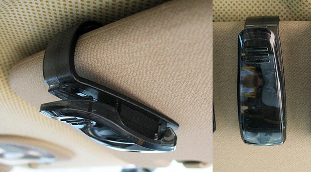4/x chytaii Clip soporte Puerta de gafas de sol para coche AUTOM/ÓVIL CAMI/ÓN Cilp Alicate de tarjetas billetes ABS negro
