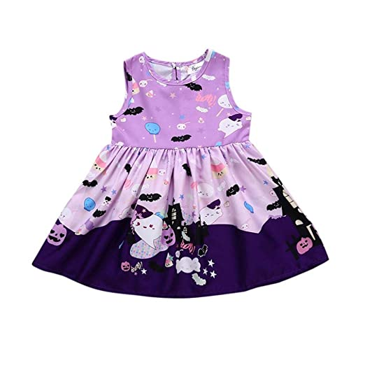 5a8946c35 Amazon.com  XILALU Infant Baby Girls Halloween Dresses