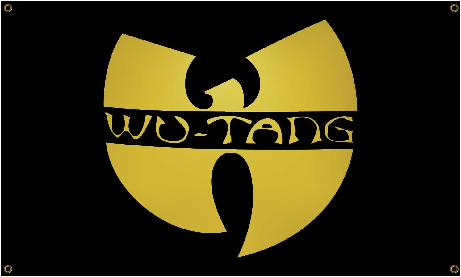 WU Tang Clan Flag 3x5 Ft Polyester Banner Dorm Banner with Four Brass Grommets for College Party Indoor and Outdoor Decorations