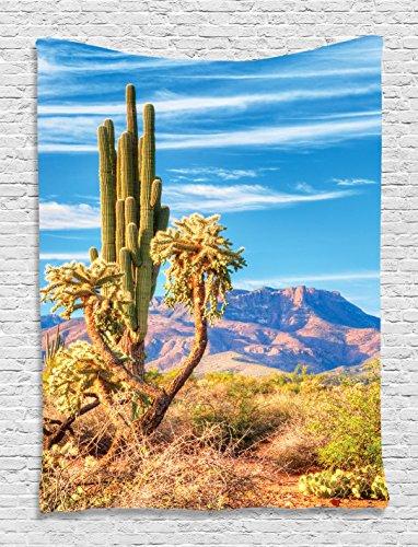Wild West Theme Ideas (Wildlife Decor Organpipe Cactus Arizona Dream Sonoran Desert Blue Sunrise Panorama Wild West Spirit Tapestry Wall Hanging Living Room Bedroom Dorm Decor)