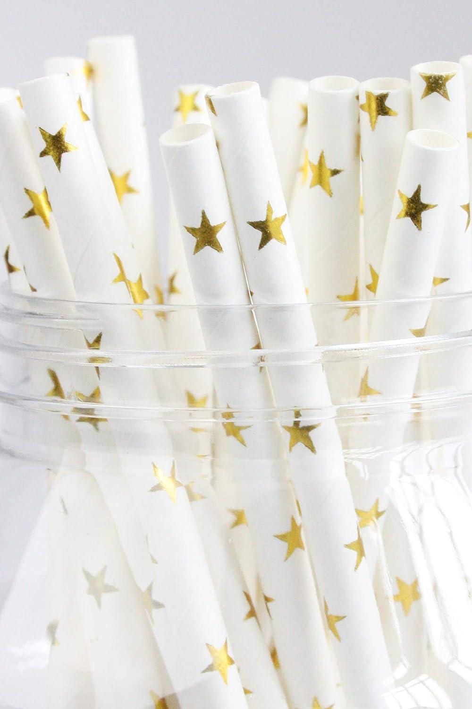 emartbuy Paquet de 200 Pailles en Papier Papier Jetable Pailles Ananas