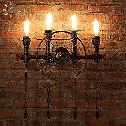 Lámpara de Pared Retro CNMKLM personalidad creativa cuatro tubos de hierro estilo loft industrial restaurante y