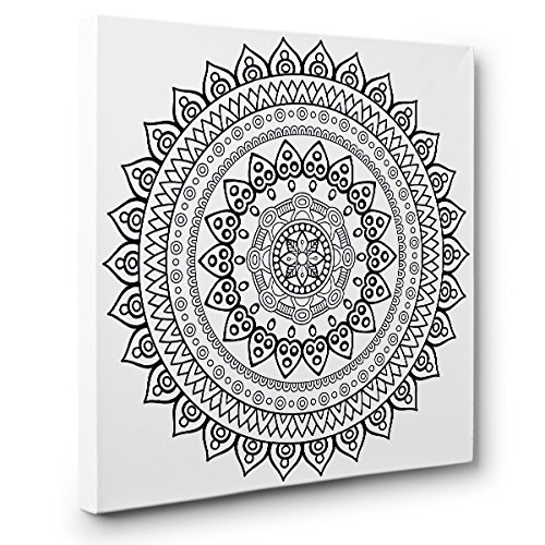 Mandala Art Therapy Coloring Canvas Home Decor