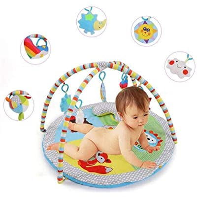 Mmsh Baby Fitness Infant Fitness Blanket 0-1 Years Old Puzzle Multifunctional Toy Frame Crawling Mat Game Blanket Portable Floor Mat: Toys & Games