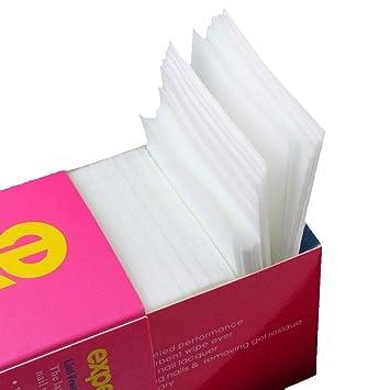 SODIAL 325 piezas unas toallitas cojines de algodon gratis pelusa para quitar unas de Gel, esmalte de unas de la hoja de tela sin tejer algodon almohadillas ...