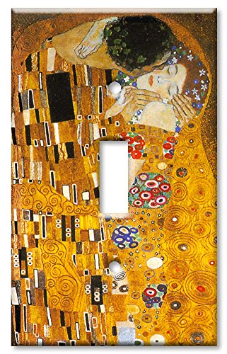 Art Plates - Klimt: The Kiss Switch Plate - Single Toggle - Light Switch Outlet Cover Art