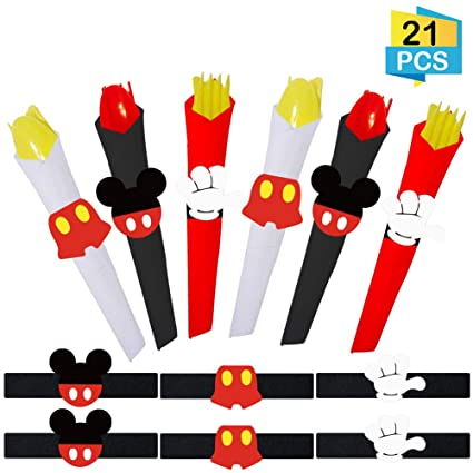 Amazon.com: 21 piezas Mickey Mouse Servilletas Anillos ...