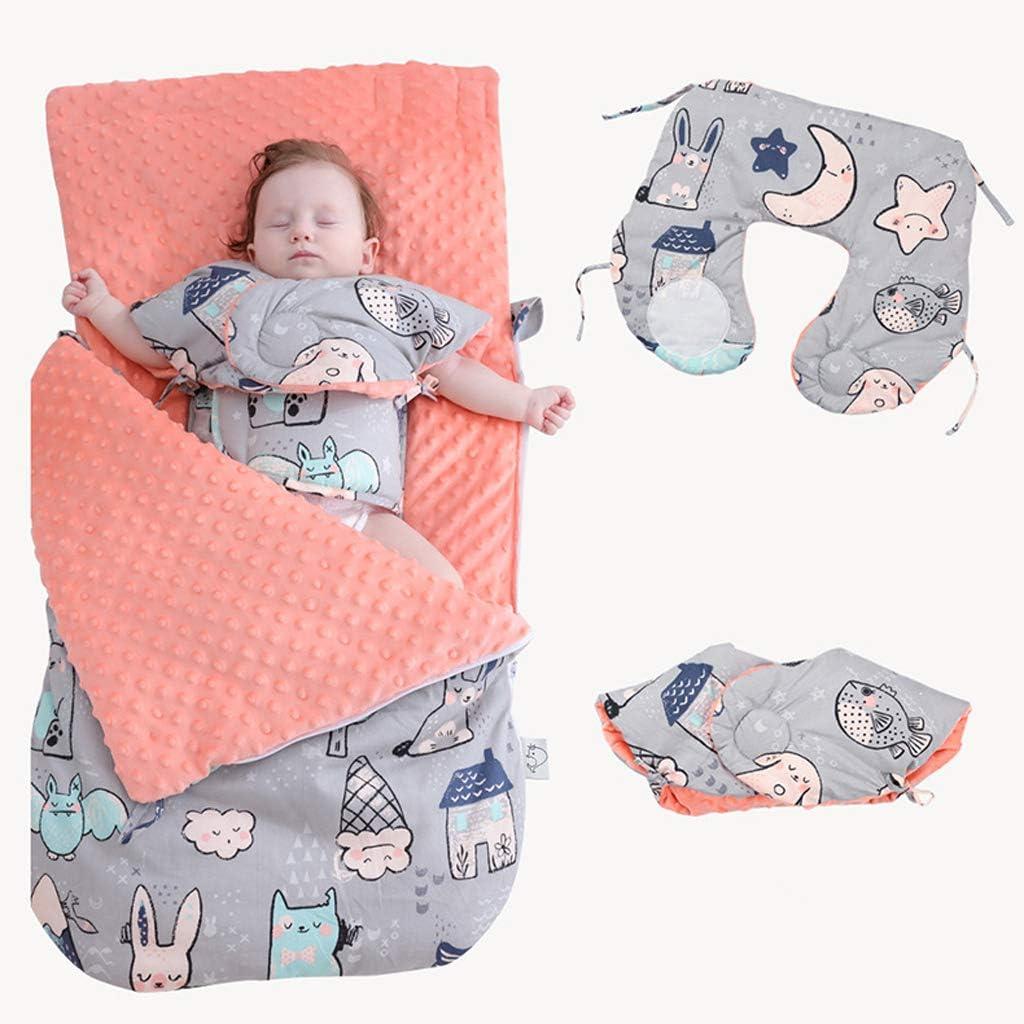 SM SunniMix Saco de Dormir de Algod/ón Suave Bolsa de Descansa para Beb/é A