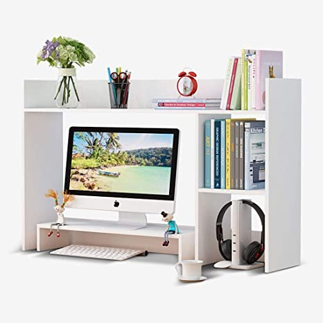 Amazon Com Fjz Bookcase Hx Desktop Bookshelf Small Desk