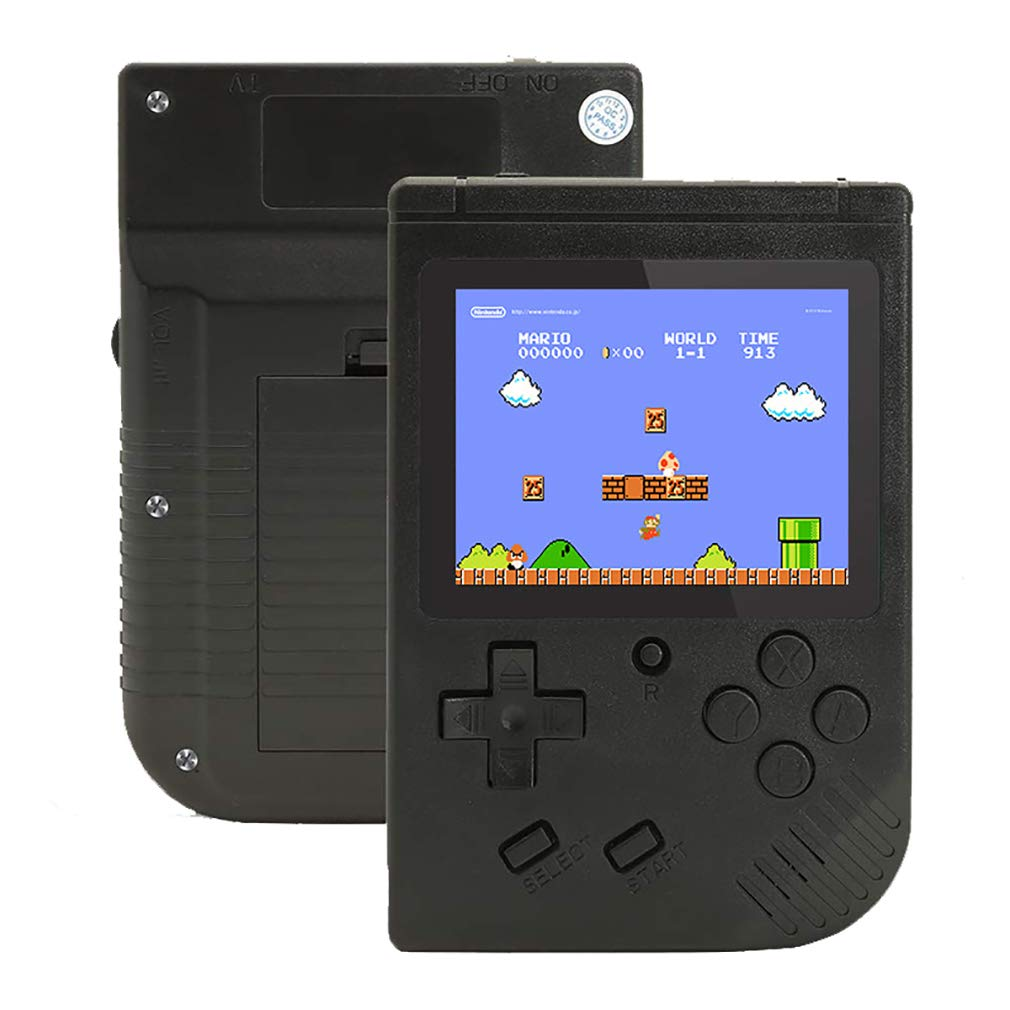 Retro Handheld Game Console for Boy Kids Adult,, Portable Handheld Game Console Built in 400 Mini Video Games 3'' LCD Screen Rechargeable Battery Support TV,Present