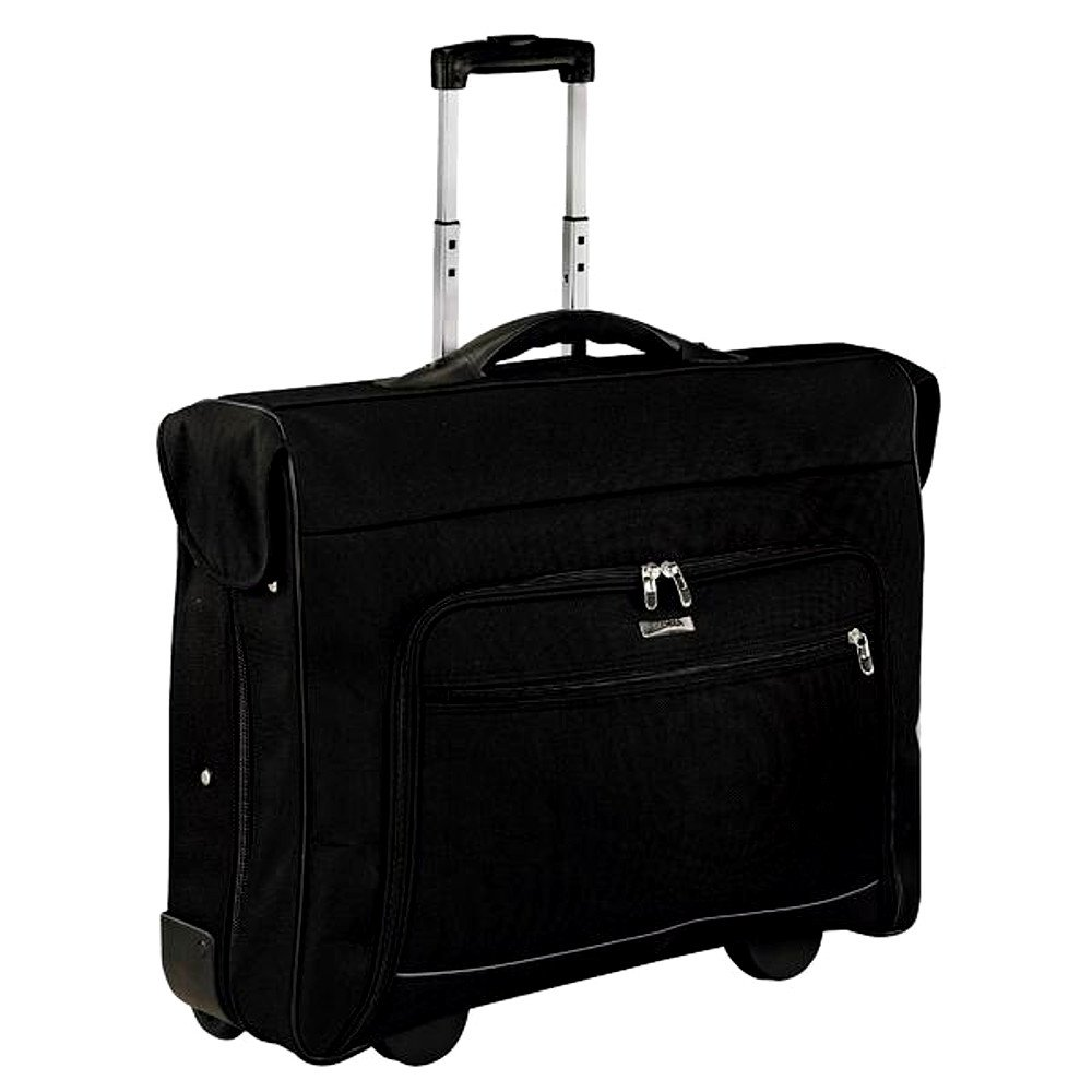 Oversized Rolling Garment Bag for Men and Women, 42 in. Black Contemporary Modern Garment Bag & E-Book