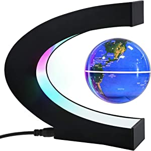 High Tech Gifts for Men, Magnetic Levitating Globe with LED Light, Home Office Unique Decor for Men, Best Gift Ideas for Boss/Colleague/Dad, Cool Stuff Gadgets for Everyone