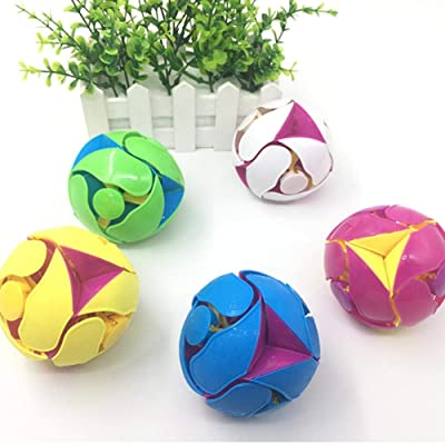 Sanmubo Trade 3.15 inch Switch Pitch Ball Color-Flipping Ball,Decompression Ball Innovative Toy-Suitable for Kids Children (Ages 4+)-Random Color,1Pack: Home & Kitchen