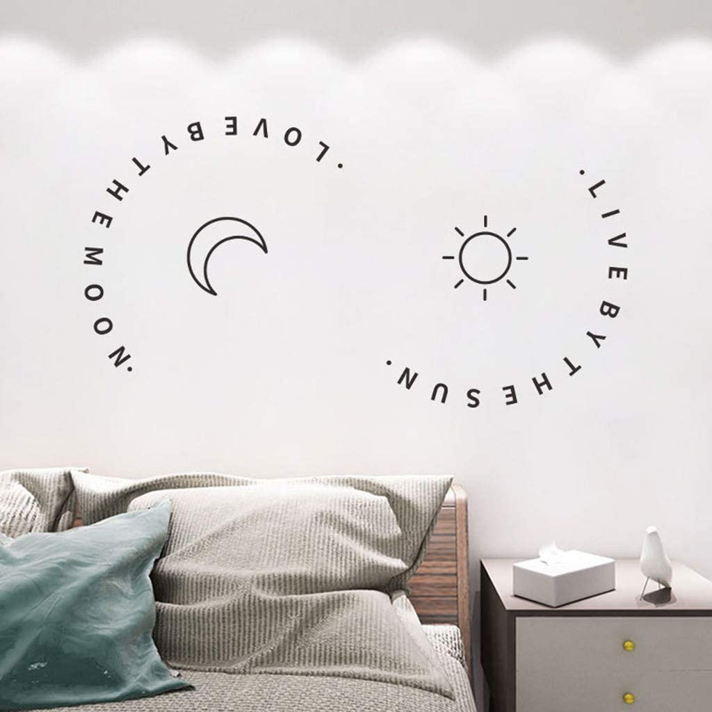 Bedroom Simple Wall Drawing Design