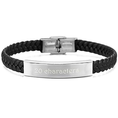 MeMeDIY Stainless Steel Bracelet Bangle Cuff - Customized Engraving y665uTI