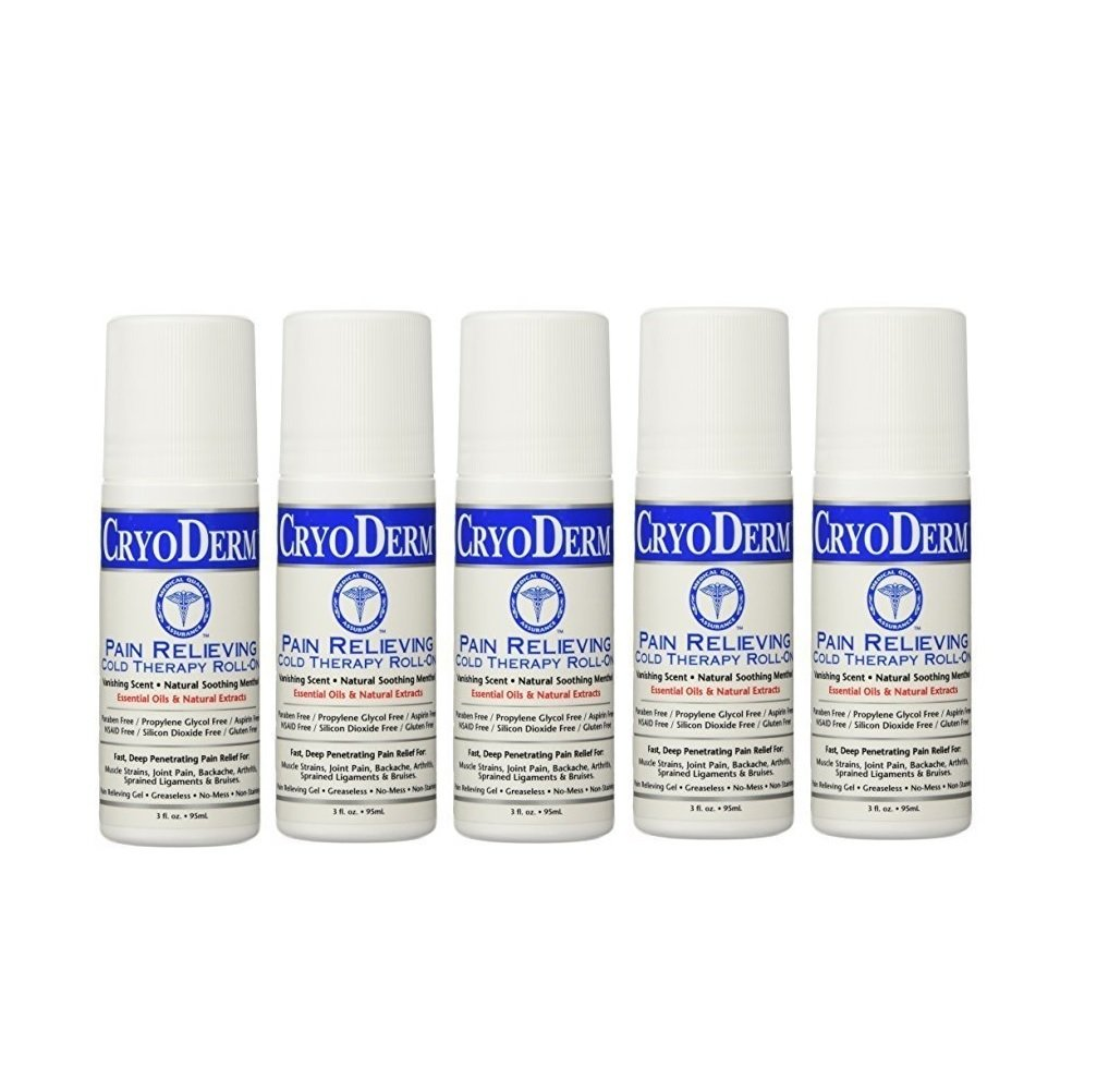 Cryoderm Pain Relieving Roll-on, 3oz. - Special 5 Pack