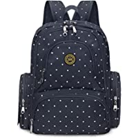 S-ZONE Baby Diaper Bag Travel Backpack Organizer with Changing Pad and Stroller
