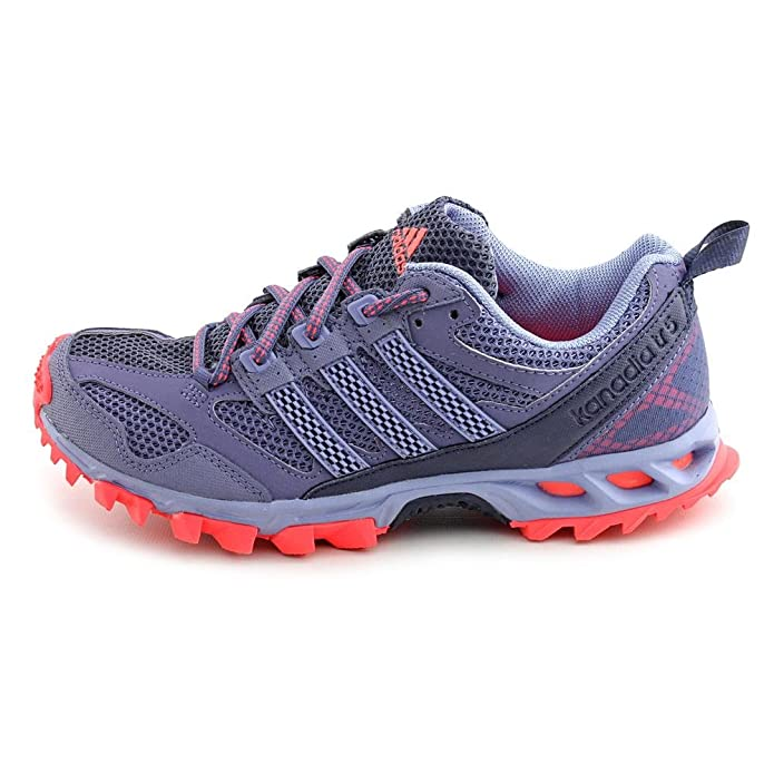 Amazon.com | adidas Performance Womens Kanadia 5 Trail Running Shoe, Shade Grey Prism Blue Red Zest S, 10 M US | Trail Running