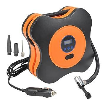 QLOUNI 12V Inflador de neumáticos Digital, Bomba de neumáticos de compresor de Aire para Coche, SUV, Motor, Triciclo, Bicicleta, automático, ...