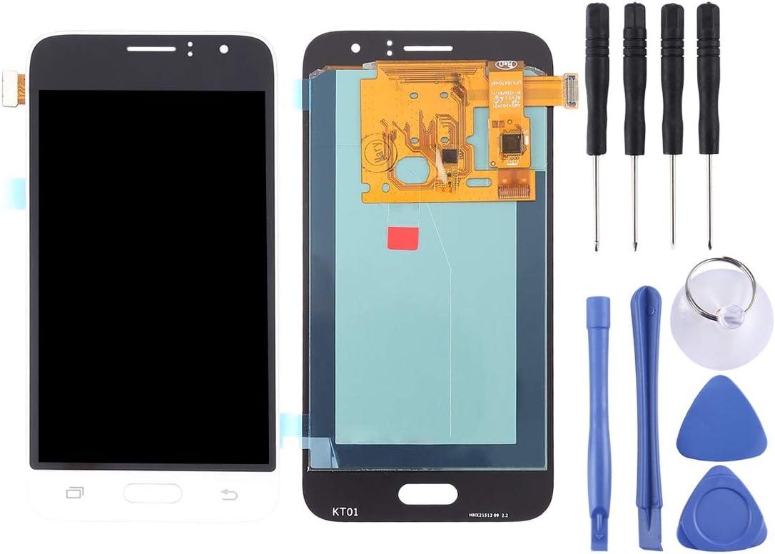 LIYUNSHU LCD Screen and Digitizer Full Assembly Color : White J120A Gold for Galaxy J1 J120F Amp 2 J120M 2016 J120T J120M OLED Material Express 3 J120H