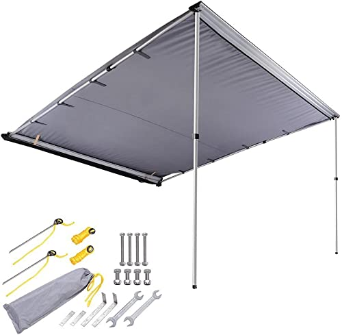 AMPERSAND SHOPS 8-1 5 x 8-1 5 Retractable Portable Camping SUV Vehicle Automobile Sun Shade Shelter Side Awning Attachment 67'sq. ft