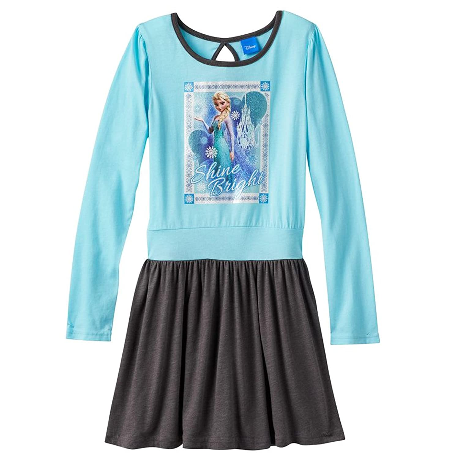 Disney Frozen Elsa Long Sleeve Dress Set Little Girls Small 4-6