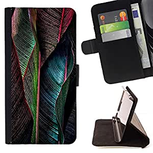 For Samsung Galaxy S5 Mini (Not S5), SM-G800 Case , Pluma vibrante del trullo Verde- la tarjeta de Crédito Slots PU Funda de cuero Monedero caso cubierta de piel